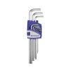Promat inbussleutelset, 9-delig, lang, S2-staal, kunststof houder, sleutelmaat 1,5 - 10 mm