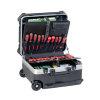 Promat hardkunststof koffer, verrijdbaar, l = 470 mm, b = 390 mm, h = 300 mm, hdpe, inhoud 64 l