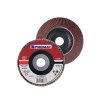 Promat lamellenslijpschijf, d = 115 mm, korrel 60, gebogen, staal / hout, normale korund