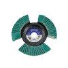 Promat lamellenslijpschijf, d = 115 mm, korrel 40 gegolfd, rvs / staal, zirkoniumkorund