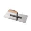 Promat pleisterspaan, gehard staal, l = 280 mm, b = 130 mm, d = 0,7 mm, vertanding 6x6, beuken heft