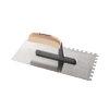 Promat pleisterspaan, gehard staal, l = 280 mm, b = 130 mm, d = 0,7 mm, vertanding 8x8, beuken heft