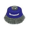 Promat potborstel, rvs, d = 80 mm, M14, draad 0,3 mm, rvs-draad, max. 8500 omw/min