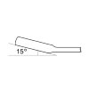 Promat ringratel-steeksleutel, omschakelbaar, chroom-vanadiumstaal, l = 158 mm, sleutelmaat 10 mm