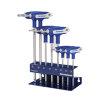 Promat inbussleutelset met dwarsgreep en zijpunt, Torx, 8-delig, S2-staal, sleutelmaat T 10 - 45