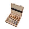 Promat beitelset, kort, 5-delig, houten kist, essen heft, 12-16-20-26-30 mm