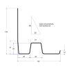 Ubbink verholen goot type KS 140 - 150 mm, zwart, l = 1500 mm