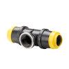 """Hawle schroef T-stuk 90°, zwart, Gastec QA, type K6525, 2x steek/1x binnendraad, 63 mm x 1½"""""""