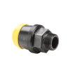 "Hawle draadkoppeling, zwart, Gastec QA, type K6125, steek x buitendraad, 20 mm x ½"""