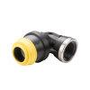 """Hawle schroefknie 90°, zwart, Gastec QA, type K6435, steek x binnendraad, 63 mm x 2"""""""