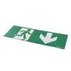 Adurolight® pictogram sticker noodverlichting, pvc, pijl naar onder