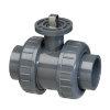 VDL ISO Top kogelafsluiter, 2x inwendig lijm/2x wartel, 16 bar, as rvs 316, 63 mm, epdm
