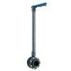 VDL Verl. PVC-Absperrklappe mit Flanschset, manuelle Bed., blauer Griff, DN200, 225 mm, L= 1.500 mm