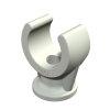 OBO sokkel-klembeugel, pp, 6 mm, lichtgrijs