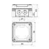 OBO kabeldoos, pc, type X01 SW, grafietzwart, RAL 9011, 95 x 95 x 60 mm, IP 67, 750 V