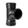 Pipelife MASTER3 PLUS Abzweig 87,5°, 3x Muffe, PP. schwarz, DN 110 mm