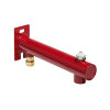 "Bonfix expansievatconsole, met ontluchter, messing draadeind, binnendraad x knel, ½"" x 15 mm, rood"