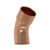 Bonfix insteekbocht 45°, roodkoper, insteek x inwendig capillair, 15 mm, Kiwa ATA / Gastec QA