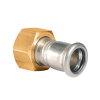 "Bonfix M-Press 2-delige schroefkoppeling, rvs, Kiwa, messing binnendraad x pers, 2 3/8"" x 54 mm"