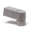 Pvc stadsuitloop, grijs, model ZZ, rechthoekig x ronde uitloop, 80-70 mm