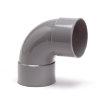 Pvc bocht 88°, 2x inwendig lijm, grijs, KOMO, 40 mm