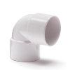 Nicoll pvc bocht 90°, 2x inwendig lijm, wit, RAL 9010, KOMO, 32 mm