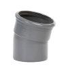 Pipelife pvc bocht 15°, manchet x spie, grijs, KOMO, SN8, 110 mm