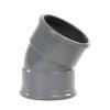 Pipelife pvc bocht 30°, 2x manchet, grijs, KOMO, SN8, 160 mm