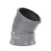 Pipelife pvc bocht 30°, 2x manchet, grijs, KOMO, SN8, 110 mm