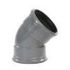 Pipelife pvc bocht 45°, 2x manchet, grijs, KOMO, SN4, 160 mm
