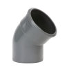 Pipelife PVC-Bogen 45°, Muffex Spitzende, grau, KOMO, SN8, DN 110mm