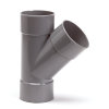 Pvc T-stuk 45°, 3x inwendig lijm, grijs, KOMO, 125 mm