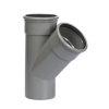 Pipelife pvc T-stuk 45°, 2x manchet/1x spie, grijs, KOMO, SN4, 125 mm