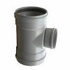 Pvc verloop T-stuk 88°, 3x manchet, grijs, KOMO, SN8, 400 x 200 mm