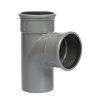 Pipelife pvc T-stuk 88°, 2x manchet/1x spie, grijs, KOMO, SN8, 110 mm