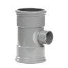 Pipelife pvc verloop T-stuk 88°, 2x manchet/1x inwendig lijm, KOMO, SN4, 125 x 50 mm