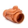 Karmat pp terugslagklep zonder handel met rvs klep, roodbruin, 160 mm