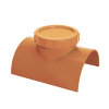 Airfit klemzadel, ontstoppingsstuk met schroefdeksel, pvc, lijmverbinding, roodbruin, 315 mm