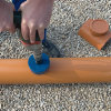 Airfit klemzadel, ontstoppingsstuk met schroefdeksel, pvc, lijmverbinding, roodbruin, 315 mm  detailimage_001 100x100