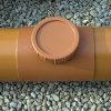 Airfit klemzadel, ontstoppingsstuk met schroefdeksel, pvc, lijmverbinding, roodbruin, 315 mm  detailimage_007 100x100