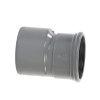 Pvc verloopstuk excentrisch, spie x manchet, KOMO, SN4, 250 x 125 mm