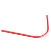 Pvc invoerbocht 90°, elektra/rood, d = 50 mm, r = 500 mm, 1200 mm