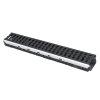 Nicoll pp lijngoot, Kenadrain HD100 Park, 2x GY golvend sleufrooster, 100 x 8 cm, C250