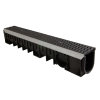 Nicoll pp lijngoot, Kenadrain HD100 Cascade,2xGY golvend sleufrooster, 100 x 13 cm, sleuf 6 mm, C250