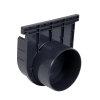 Nicoll pvc eind- / uitlaatstuk voor horizontale aansluiting, voor afvoergoot Kenadrain HD150, 125 mm