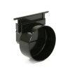 Nicoll eindkap, type Connecto 100, uitlaat 110 mm, zwart, voor art.nr. 254299 en 254338