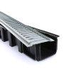 Nicoll lijngoot, type Connecto 100, incl. gegalvaniseerd sleufrooster, A15, 100 x 9,8 cm, set 3 st.