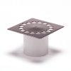 Rooster voor abs douchesifon, rvs, excl. buitenpot 255340 of 255342, 150 x 150 mm