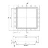 Bodenablauf, Edelstahl304, für Umbauten/Sanierungen, nicht höhenverstellbar, 100x 100mm