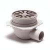 Abs vloerput, met rvs rooster, h = verstel- +draaibaar zijuitlaat 40 mm, Ø 100 mm